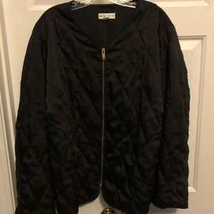 EUC Ava & Viv Quilted Collarless Jacket Sz 4X
